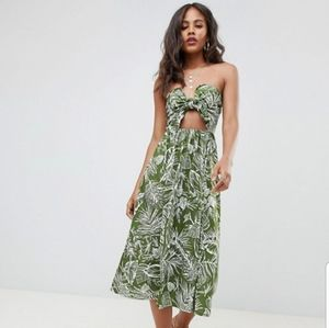 Nwt ASOS DESIGN Tall midi sundress with tie front